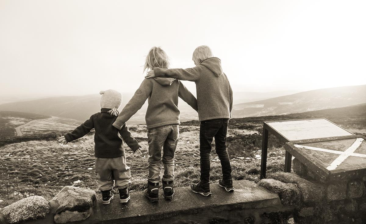 Skottland med barn
