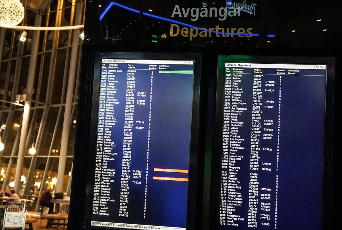 ersättning för försenade flyg