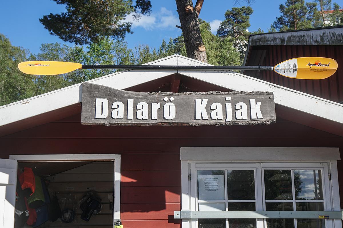 paddla kajak på Dalarö