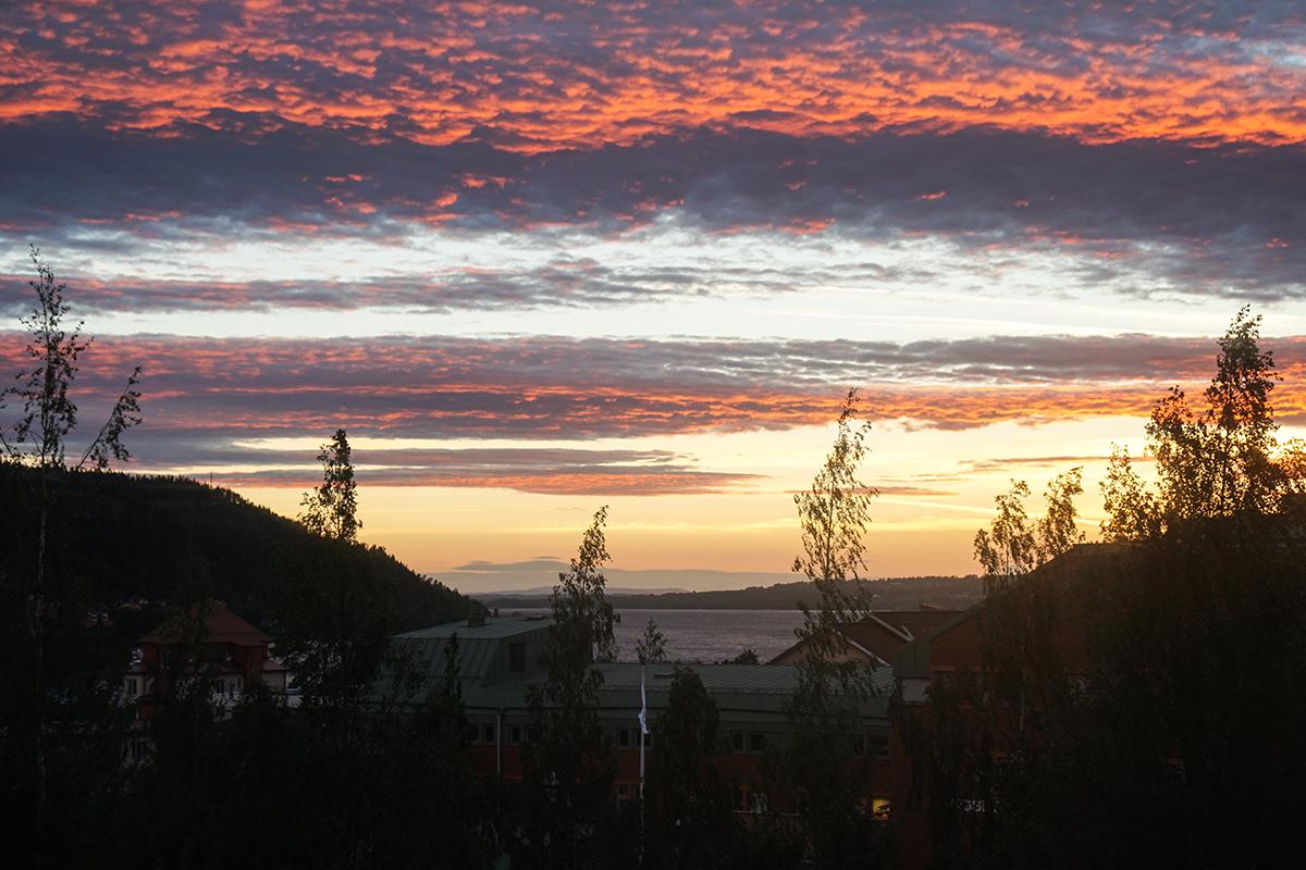 utsikt sommar Östersund