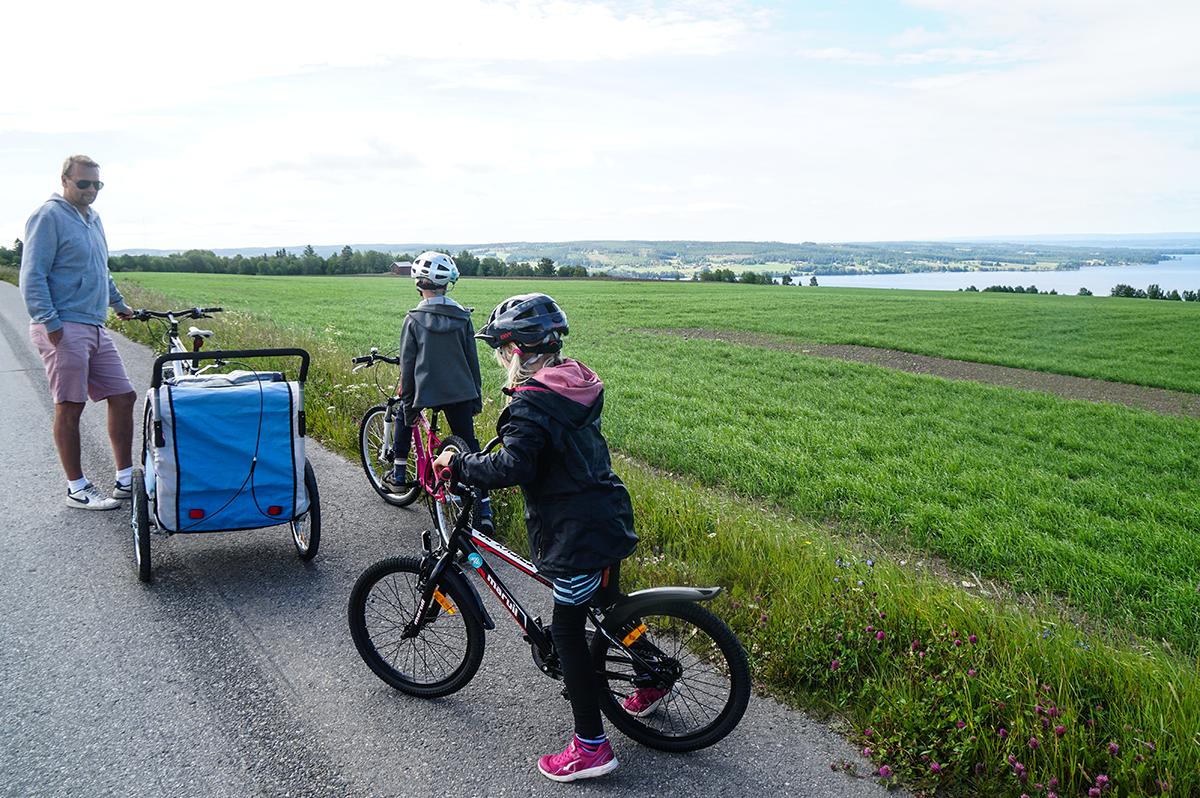 cykla Östersund barnfamilj