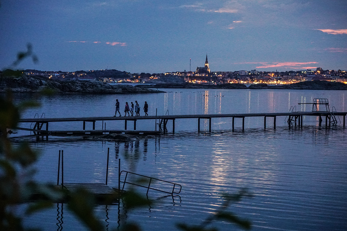 Lysekil by night