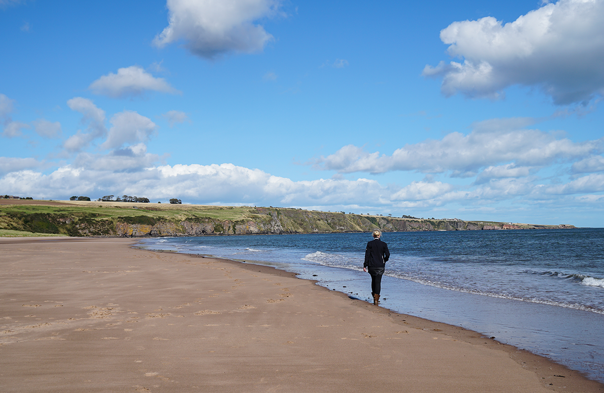 lunan bay beach Scotland