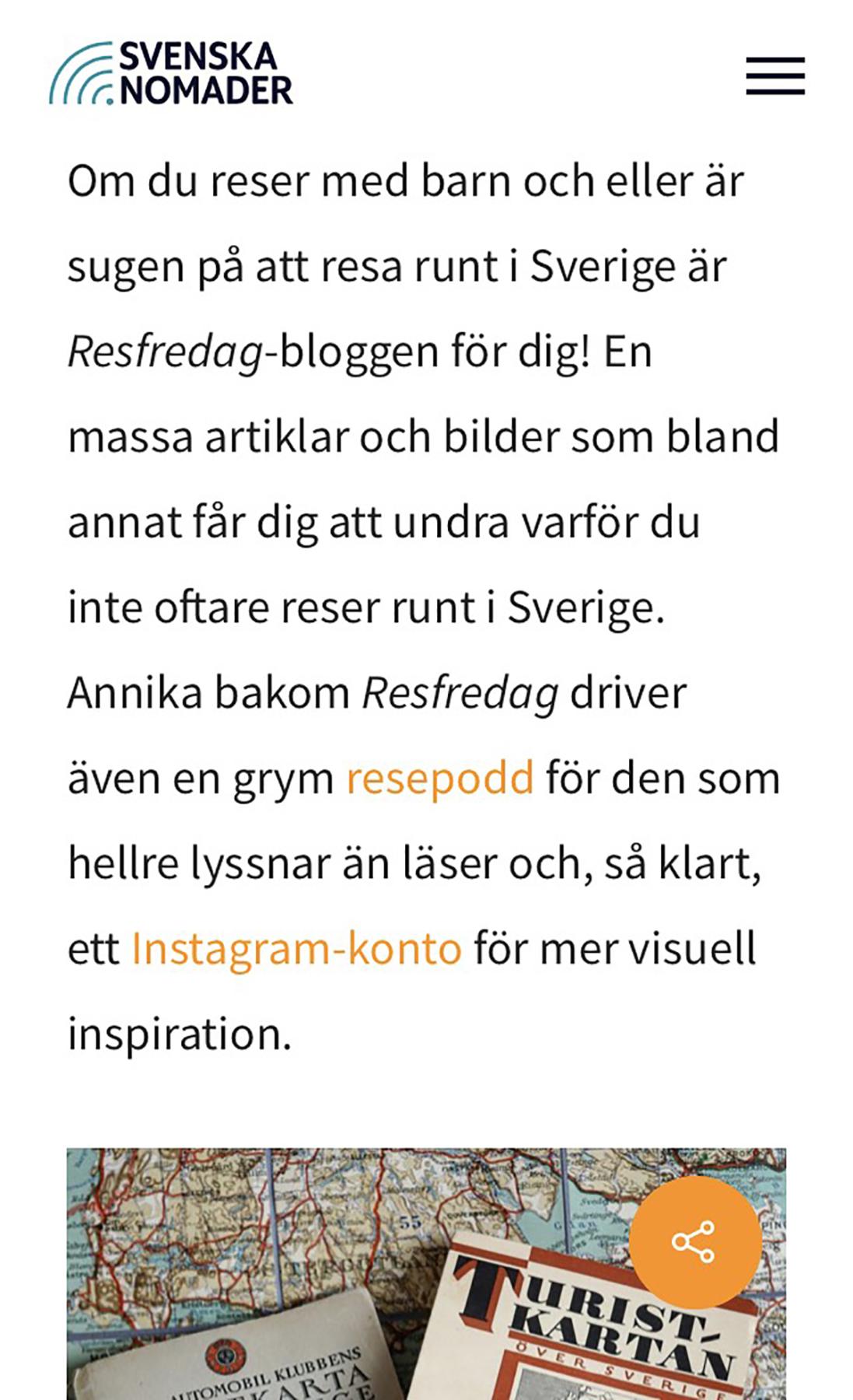 Sveriges bästa reseblogg 2018 Resfredag
