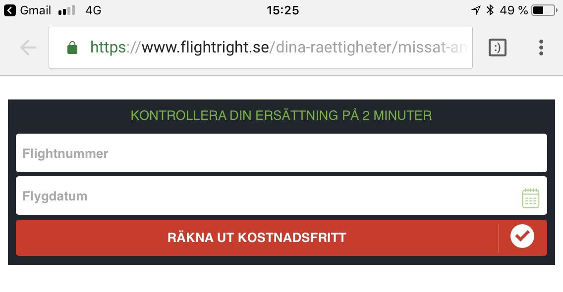 flightright missat flyg