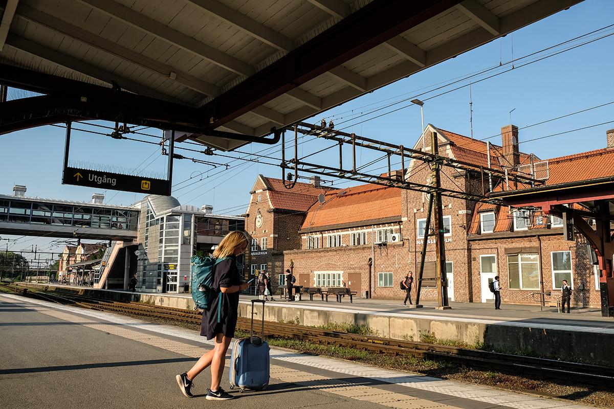 SJ tåg mot österlen