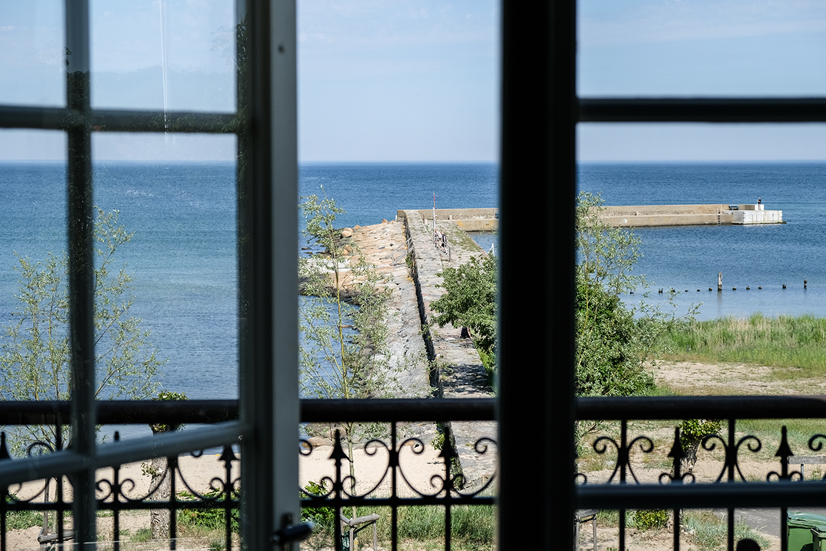 utsikt kivikstrand badhotell