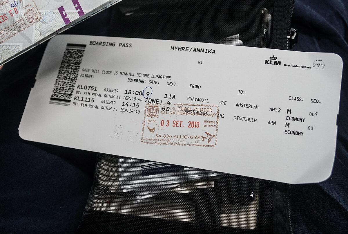 Ecuador till KLM