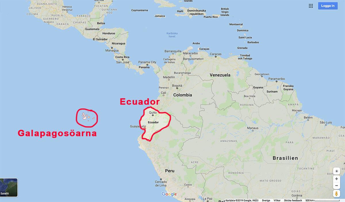 resa till ecuador karta