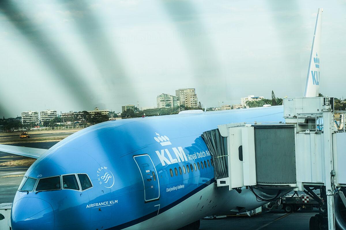 KLM flygplan