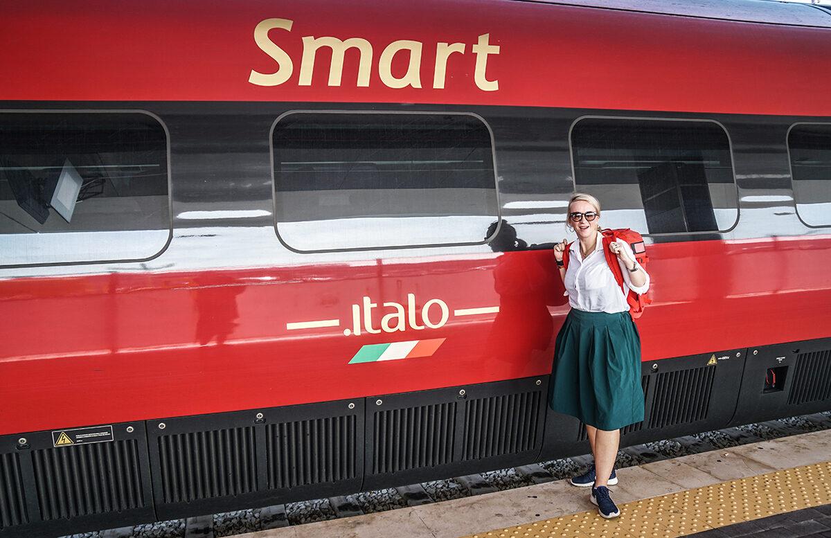 åka tåg i italien