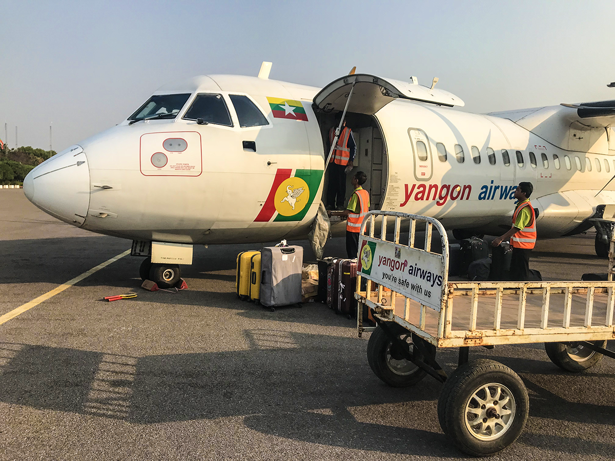 yangon airways flyg i myanmar