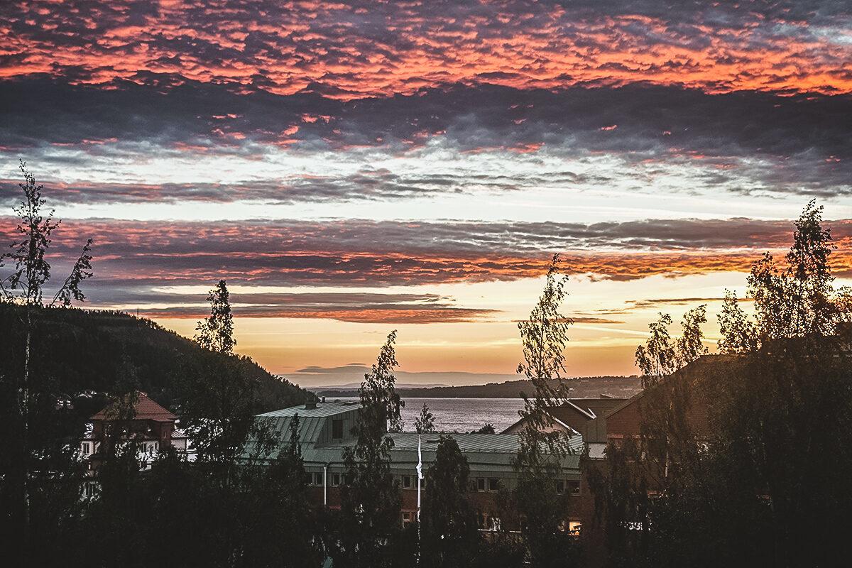 östersund solnedgång