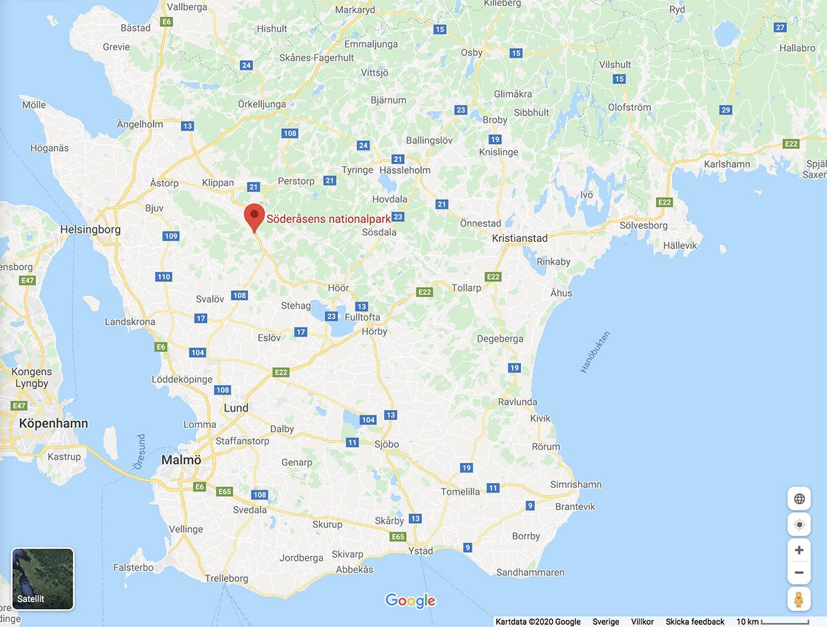 söderåsen karta