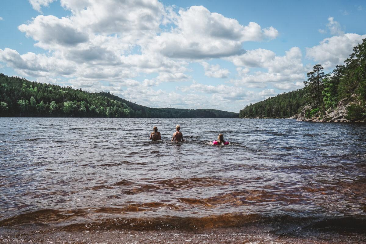bada Östergötland Ågelsjön